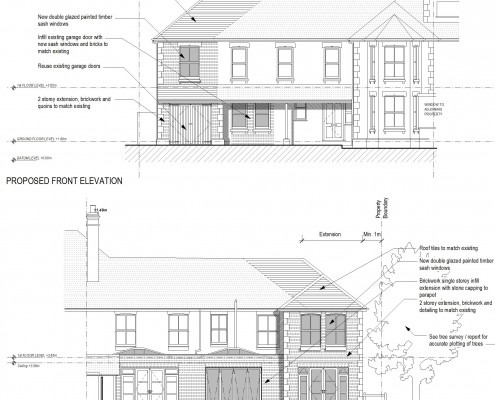 Edwardian Side Extension Proposed Elavations
